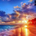 Image paysage coucher soleil