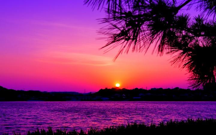 photo image paysage coucher soleil