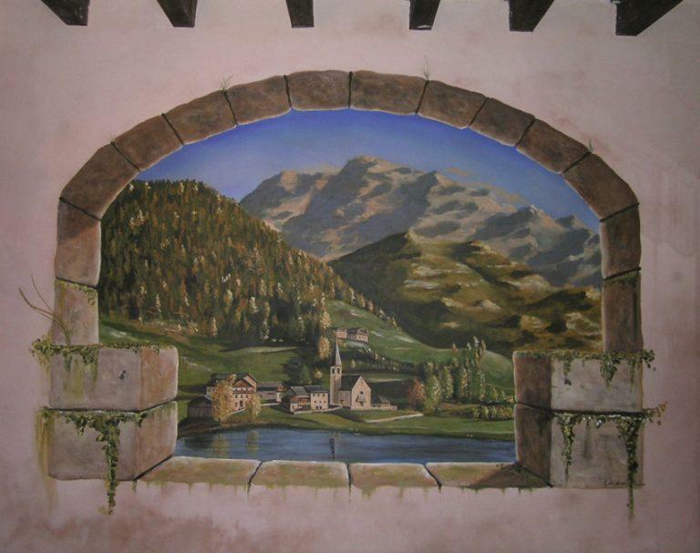 photo image paysage trompe l'oeil
