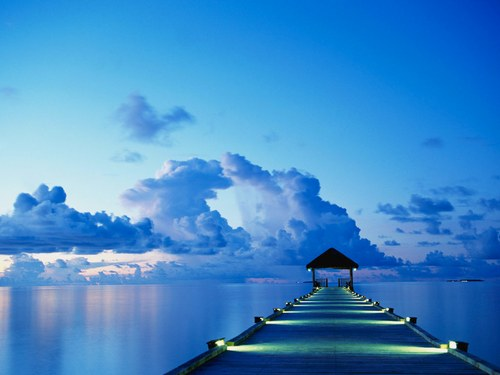 photo photo paysage bleu