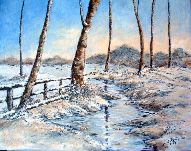 photo paysage hiver peinture