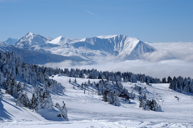 photo paysage ski