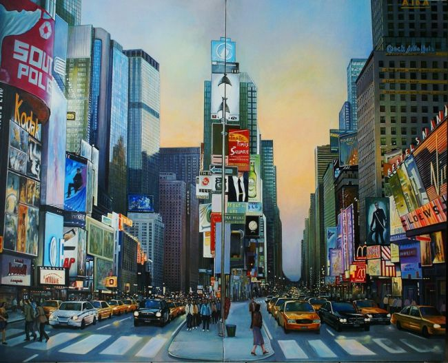 photo paysage urbain peinture