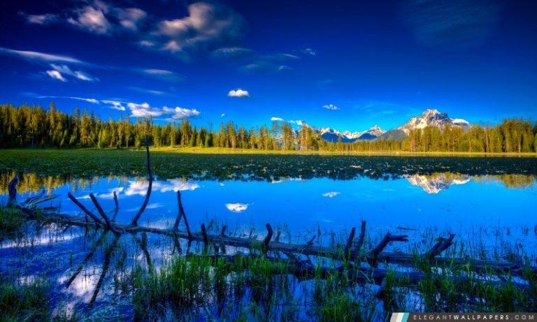 photo image paysage bleu