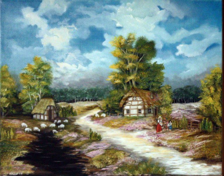 photo paysage peinture
