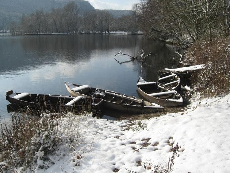 photo paysage sous la neige