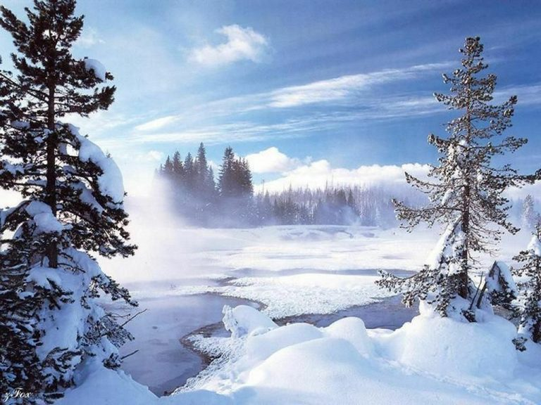photo image paysage enneigé noel