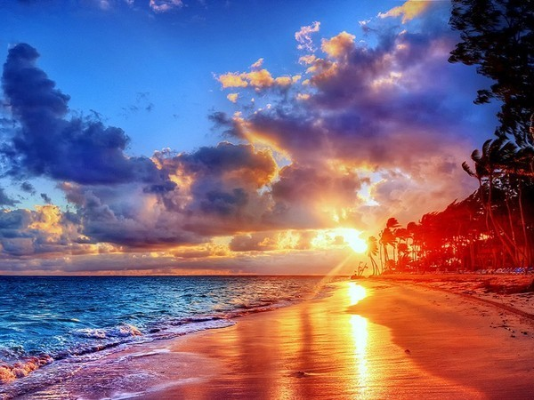 photo image paysage soleil