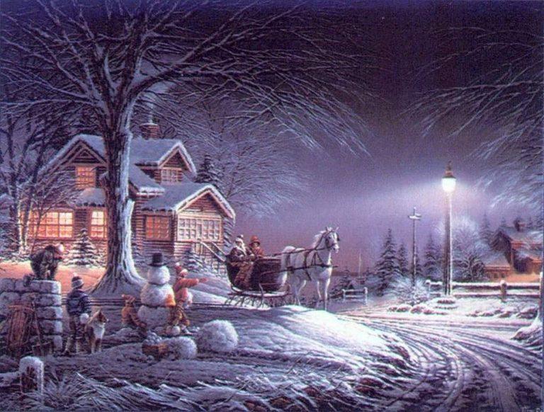 photo paysage neige noel