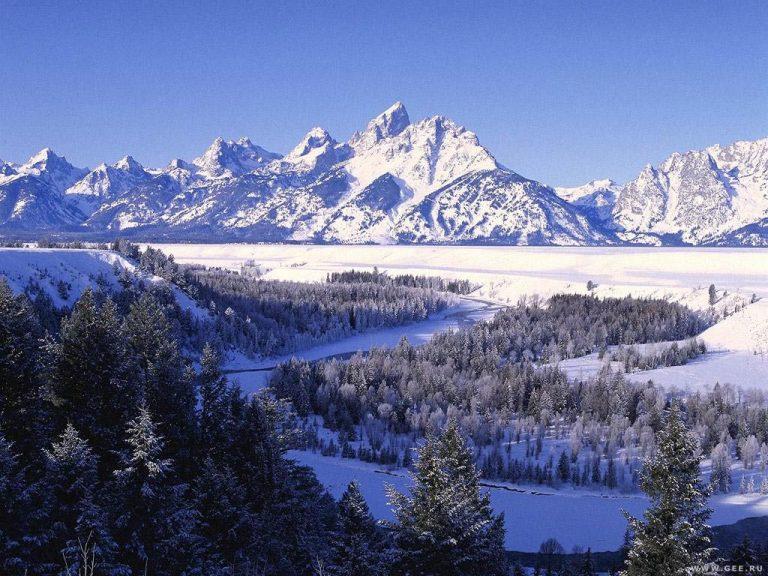 photo photo paysage montagne neige