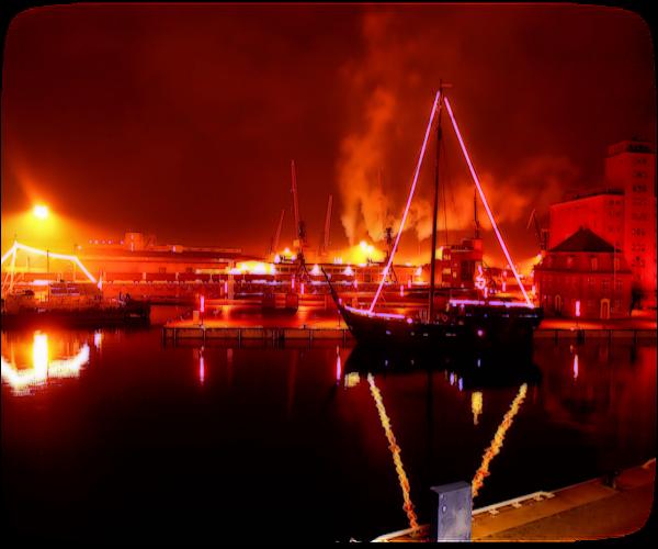 photo photo paysage rouge
