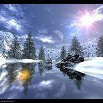 Image paysage d'hiver