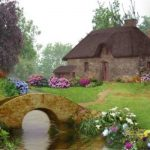 Image paysage maison