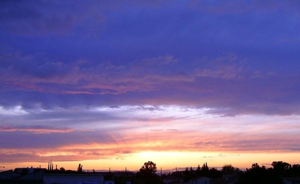photo image paysage soleil couchant