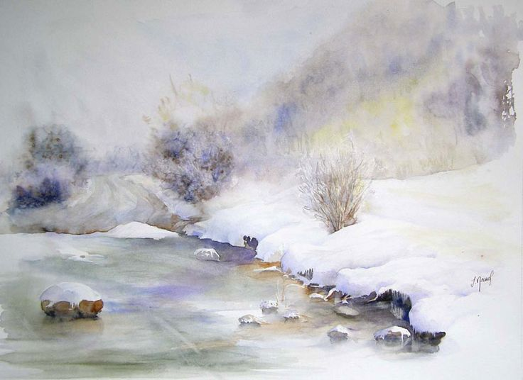 photo paysage aquarelle
