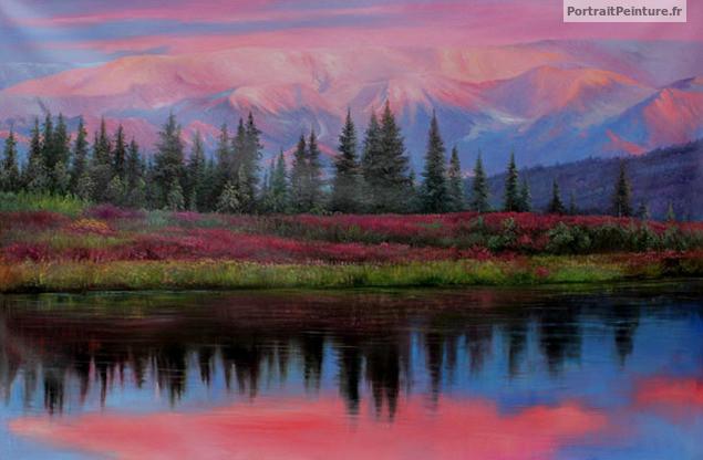 photo photo paysage en portrait