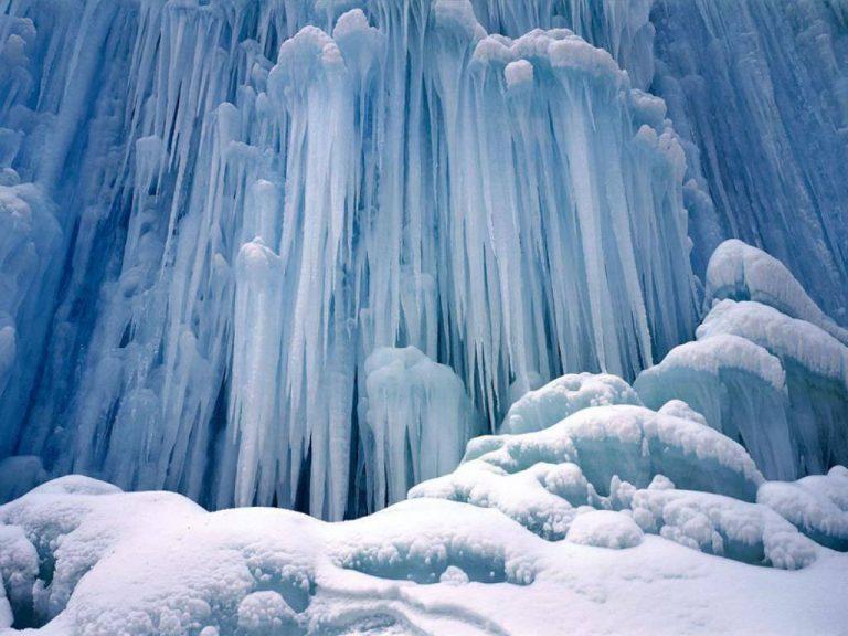 photo paysage glacé