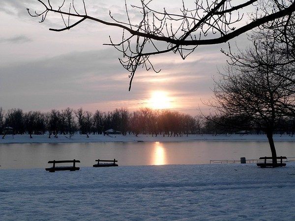 photo photo paysage hivernal
