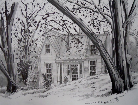 photo image paysage maison