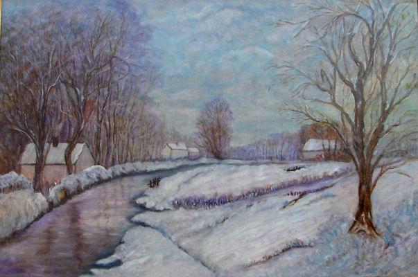 photo paysage neigeux