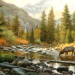 Image paysage avec animaux