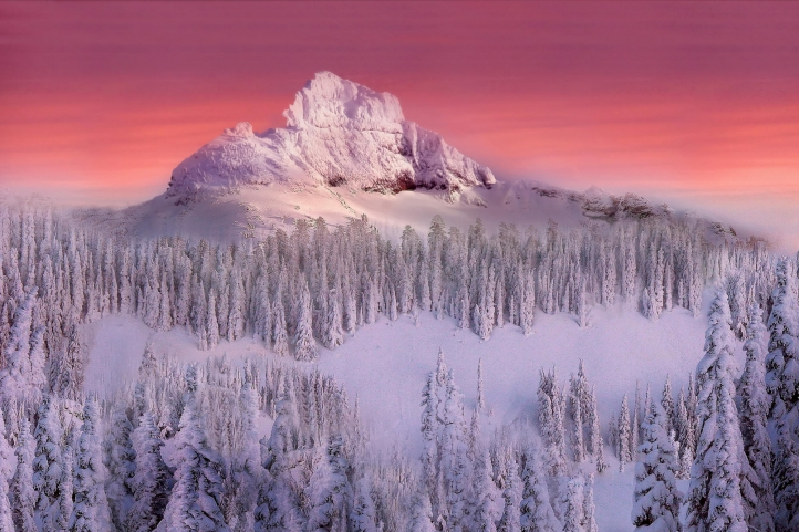 photo paysage enneigé