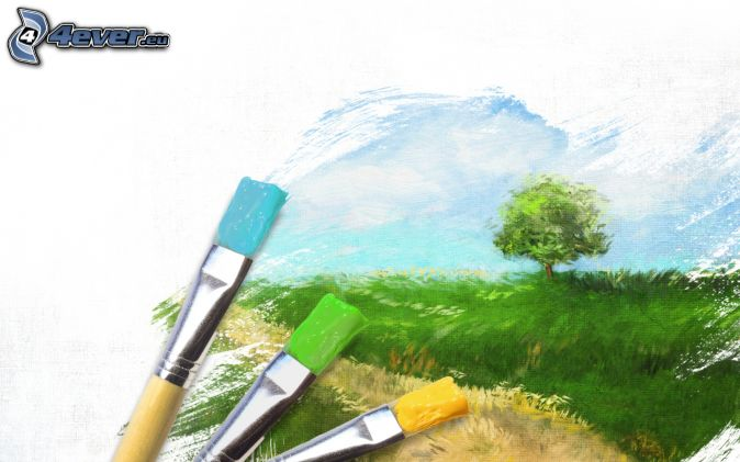 photo image paysage dessin