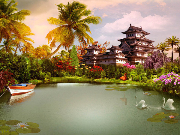 photo photo paysage asiatique