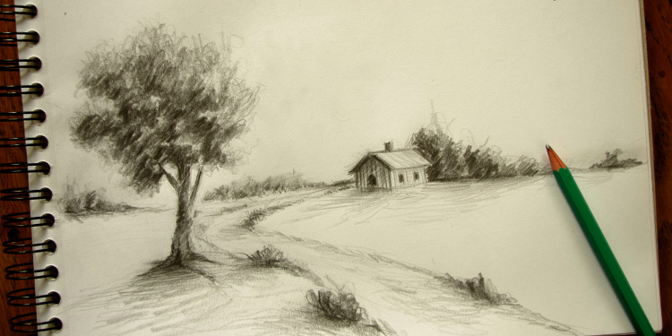 photo paysage dessin