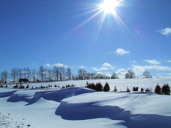 photo photo paysage en hiver