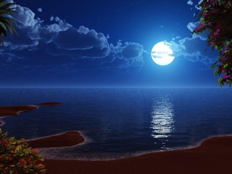 photo photo paysage lune