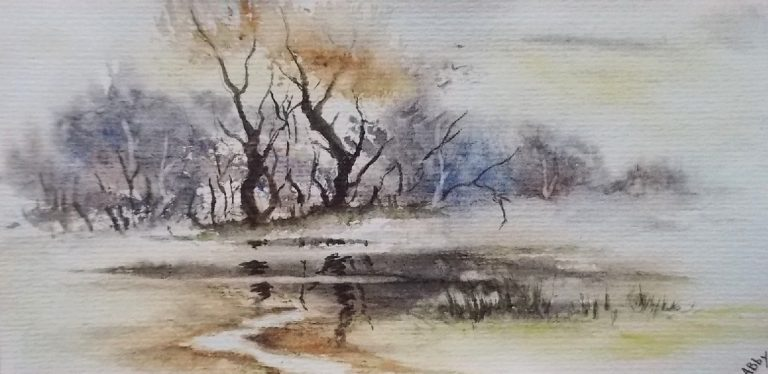 photo paysage à l'aquarelle