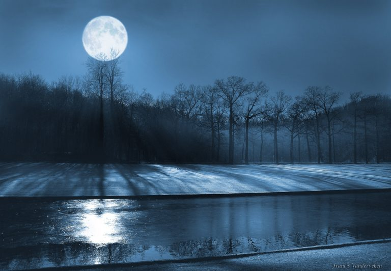 photo photo paysage lune