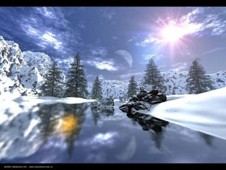photo image paysage en hiver