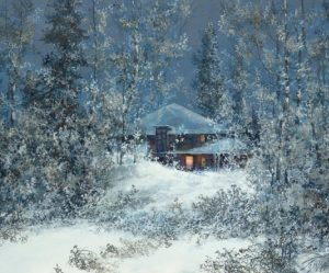 Image paysage en neige
