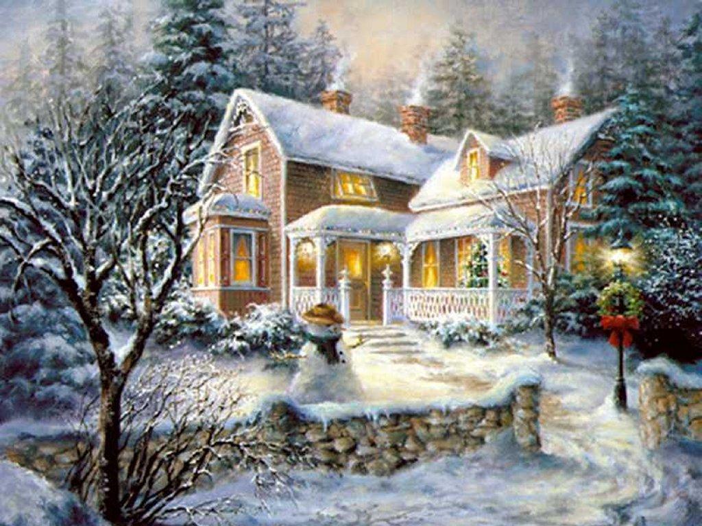 Paysage hiver noel 4 - Paysage de noel gratuit ...