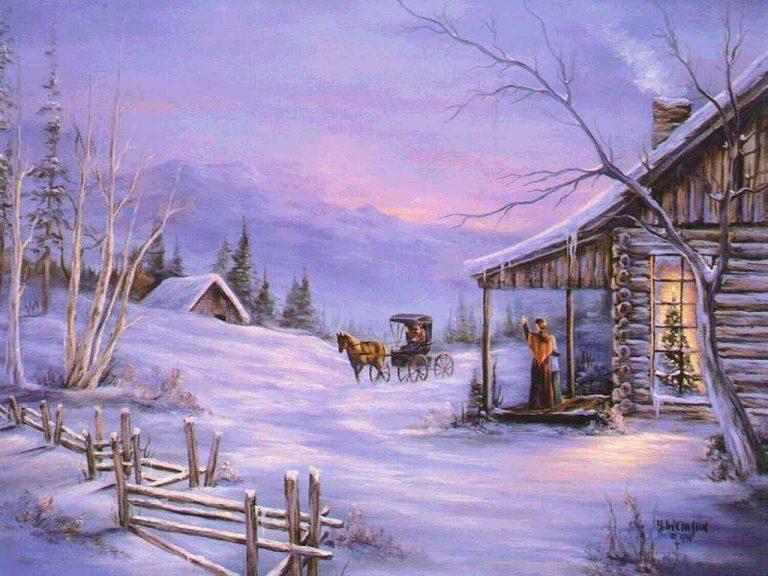 photo paysage hiver noel