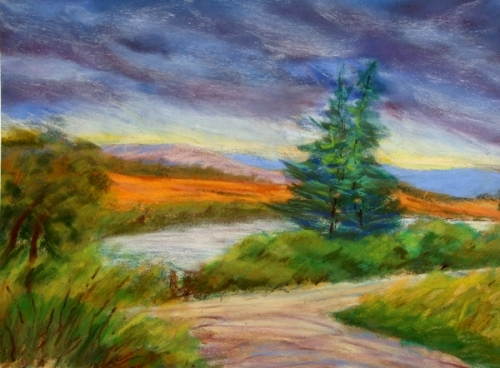 photo paysage pastel