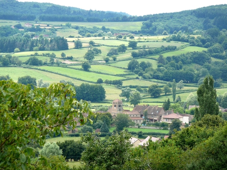 photo photo paysage village campagne