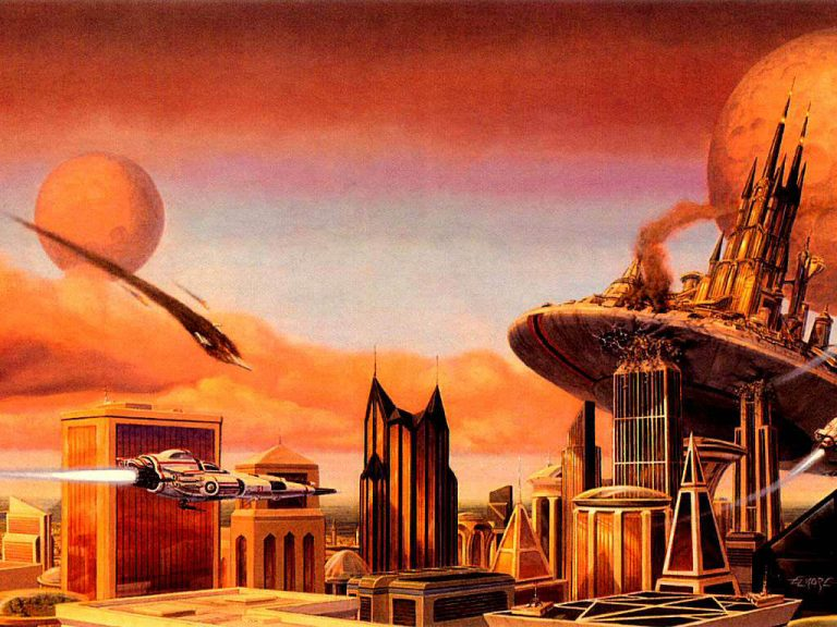 photo paysage futuriste