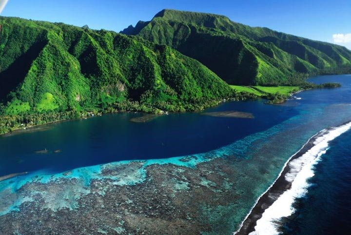 photo photo paysage tahiti